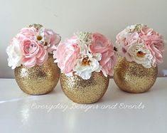 ON SALE NOW FOR OFF - gold wedding centerpiece wedding decoration pink gold first birthday wedding favor pink and gold baby shower birthday gold SET OF 6 Gold Wedding Centerpieces, Diy Centerpieces, Wedding Favors, Princess Centerpieces, Party Favors, Shower Favors, Black And Gold Centerpieces, Rose Gold Centerpiece, Wedding Programs