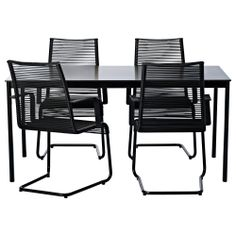 GARPEN/VÄSMAN Table and 4 chairs with armrests - IKEA