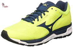 Mizuno Synchro MX, Chaussures de Running Compétition Homme - Jaune - Yellow (Safety Yellow/Black/Silver) - 42 EU (8 UK)