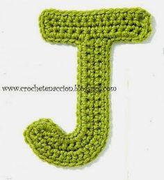 Alfabeto em crochê com gráfico - letras em crochê com gráfico - Alfabetos…