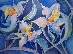 Kerstin Birk Kunst Pflanzen: Blumen Abstraktes Moderne Abstrakte Kunst