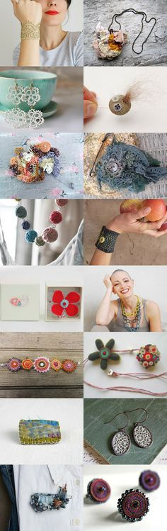 f by Jennifer Gibbs on Etsy--Pinned with TreasuryPin.com #etsy #treasury #fibre #fiber #jewelry #jewellery #lace #handmade #textile #crochet #tatting #earrings #cuff #brooch #necklace