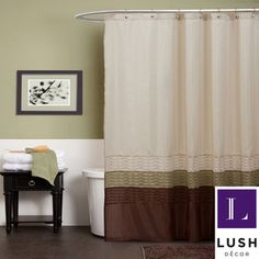 Lush Decor Mia Green / Brown Shower Curtain | Overstock.com Shopping - Great Deals on Lush Decor Shower Curtains