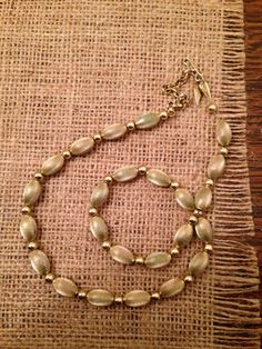 Whiting and Davis gold-tone beaded necklace
