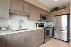 We LOVE this backsplash! Oak Park, Backsplash, Kitchen Cabinets, Ideas, Home Decor, Restaining Kitchen Cabinets, Homemade Home Decor, Kitchen Base Cabinets, Interior Design