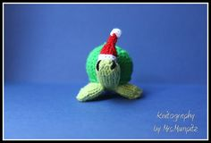 Christmas Toy Turtle handknitted by KnitographyByMumpitz on Etsy, kr75.00