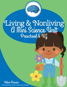 FREE Nonliving & living mini science unit for preschool and KG: Posters, mini reader, cut-sort-paste, object cards sort