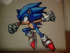 Sonic the Hedgehog Hama perler beads by Jesusclon on deviantART