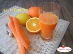INGREDIENTI: Per un bicchiere di succo ACE e zenzero: 2 arance 2 carote 1/2 limone una fettina di zenzero fresco
