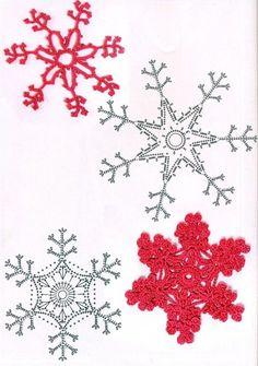 Lacy Crochet Snowflakes with charts Crochet Angels, Crochet Stars, Crochet Quilt, Crochet Motif, Crochet Doilies, Crochet Flowers, Crochet Snowflake Pattern, Crochet Garland, Crochet Decoration