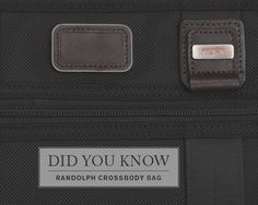 DID YOU KNOW: Traveling with your electronic essentials is a breeze with our lightweight Randolph Crossbody bag.   This slim crossbody bag was designed specifically for your iPad or tablet and includes essential organizer pockets for your gear and accessories.