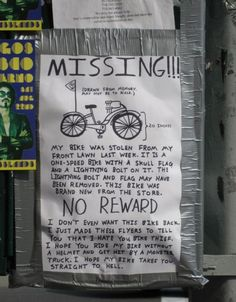 Hope the bike thief gets it!