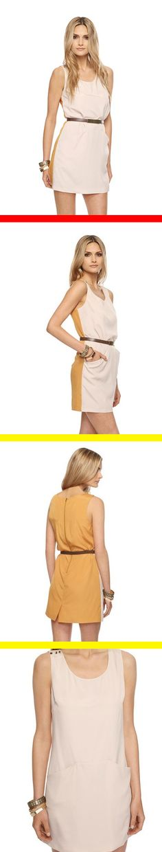 HALF & HALF = CLASS.  (Forever 21: Contrast Shift Dress)