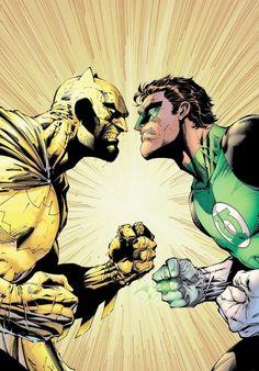 Yellow Batman Vs Green Lantern by Jim Lee Comic Book Artists, Comic Book Characters, Comic Book Heroes, Comic Artist, Comic Character, Comic Books Art, Superhero Characters, Batman Vs, Jim Lee Batman