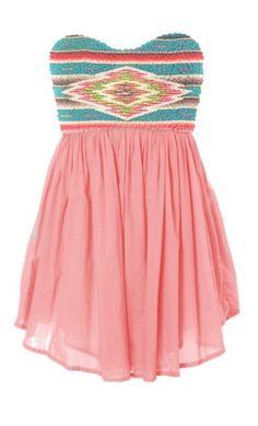 hl8woa-l-610x610-pink-dress-sequin-dress-strapless-dress-tribal-print-dress.jpg (370×610)