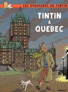 Tintin drawing style [points de fuites, ombres et lumières, aplats de couleurs, détails]
