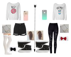 """""""BFF Outfit"""" by sharifabakhtani ❤ liked on Polyvore featuring WithChic, Topshop, Charlotte Russe, Keds, Casetify, Anna Lou of London and Torrid"""