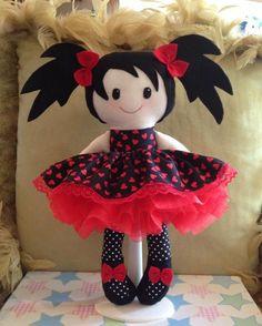 """14"""" Handmade Rag doll - Abby. See more at https://www.facebook.com/TartyFrog"""