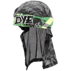 Dye Paintball Head Wrap - Tiger Stripe Lime by Dye. $19.95. Dress for victory in a Dye Headwrap! A Dye Paintball Headwrap is the cutting edge of on-field paintball fashion. They not only look stylish but keep your hair under control and tucked away. A Dye Tiger Lime Head Wrap features a thick terry cloth lining to keep sweat out of your eyes when the action gets intense as well as padding that forehead. The headband fastens around the head with velcro so you don't have a big ol...