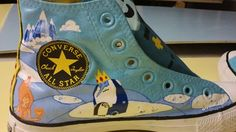 Adventure Time converse handpainted by me. Ice King, Gunther, and Fire Princess