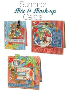 Graphic 45 Presents a Summer Mix & Mash-up Banner & Cards Project Sheet - Graphic 45®