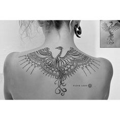 Image result for womens tattoo phoenix black