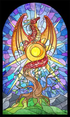 Stained Glass Dragon by amarys
