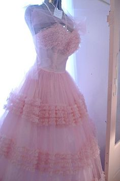 Pink Vintage Prom Dress -  this dress reminds me of Glenda the good witch on Wizard of Oz whom I was OBSESSED with when I was little