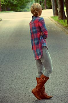 that's me right there! love my flannels! :)
