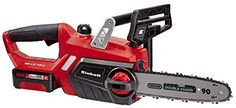 Einhell GE-LC 18 Li Kit Power X-Change 18 V Cordless Lithium-Ion Chain Saw with Battery and Charger mm Cut Length, Oregon Chain and High Quality Blade) - Red - Rattan Furniture SHOP UK Interior Furniture Solar Battery, Lead Acid Battery, Oregon, Change, Battery Powered Chainsaw, Cordless Chainsaw, Chainsaws For Sale, Chainsaw Mill, Garden Power Tools