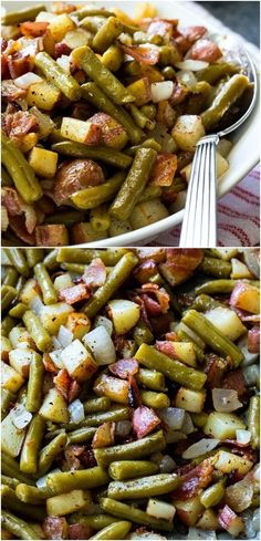Ranch Green Beans and Potatoes Country Ranch Green Beans and Potatoes.I could veganize this.Country Ranch Green Beans and Potatoes.I could veganize this. Side Dish Recipes, Veggie Recipes, Dinner Recipes, Cooking Recipes, Healthy Recipes, Vegaterian Recipes, Healthy Food, Cheap Recipes, Healthy Sides
