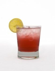 Tito's Sunshine- This sweet & simple cocktail is made with Chambord, Sweet & Sour, lemon juice and a dash of grenadine