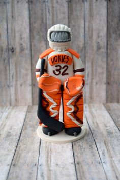 Hockey Goalie Ornament Hockey Goalie Cake by CalledandChosen