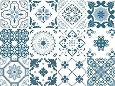 """Vinyl decal self-adhesive Portuguese sticker Tiles TEJO Collection (Pack of 12) (6""""x6""""