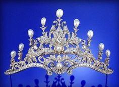 Baroque Pearl and Diamond Tiara, circa 1890.