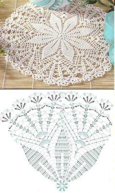 Crochet Doily Diagram, Crochet Doily Patterns, Crochet Art, Thread Crochet, Filet Crochet, Crochet Motif, Crochet Coaster, Crochet Dollies, Crochet Decoration