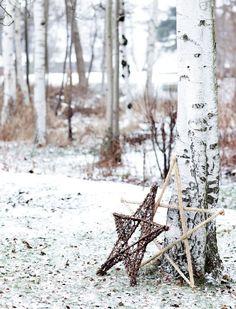 Holiday Inspiration : Winter Holidays in Scandinavian Home Danish Christmas, Christmas Mood, Noel Christmas, Scandinavian Christmas, Scandinavian Home, Country Christmas, Natural Christmas, Xmas, Office Christmas
