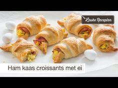 Deze croissants gevuld met roerei en ham zijn heerlijk bij het (paas)ontbijt