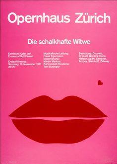 """agi-open-london: """" Josef Müller-Brockmann — Die schalkhafte Witwe, Opernhaus Zürich (1971) """""""
