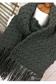 Simple Scarf for Men Free Crochet Pattern