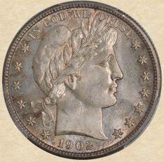 1902-S Barber Half obverse