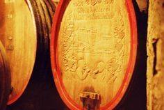 Our oldest wooden barrel which shows Hans Rottensteiner, the founder of the winery together with an important Swiss wine-importer. Picture taken by Conny Eisfeld from #Lomoherz.
