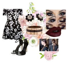 """Midnight Floral"" by qkamaizo0501 on Polyvore featuring Kate Spade, Cartier and New Look"