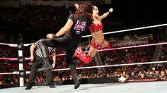 The Bella Twins & Eva Marie vs. AJ Lee, Tamina & Aksana: photos   #WWE.com