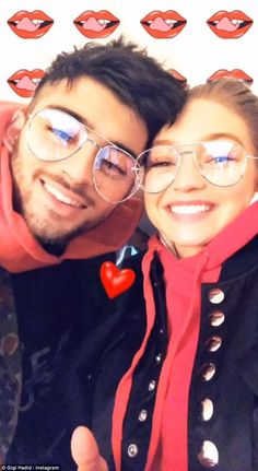 Gigi Hadid looks smitten as she goes cheek to cheek with Zayn Malik Gigi Hadid Looks, Gigi Hadid And Zayn Malik, Hadid Instagram, New Instagram, Instagram Story, Beaux Couples, Cute Couples, Sweet Couples, Liam Payne