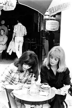 Sisters Catherine Deneuve and Francoise Dorleac during filming of Les Demoiselles de Rochefort in June 1966 in France. Photographed by Giancarlo Botti