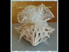 Tutorial bomboniere Cestino Uncinetto (Crochet) 1/5 - YouTube