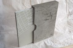 Book dummy with concrete slipcase (art edition)