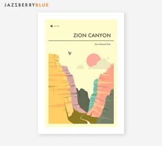 Parco nazionale di ZION stampa Fine Art Giclée stampa di