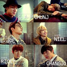 Teen Top- Lovefool! Love this song!! Haha, Chunji's 'i'!